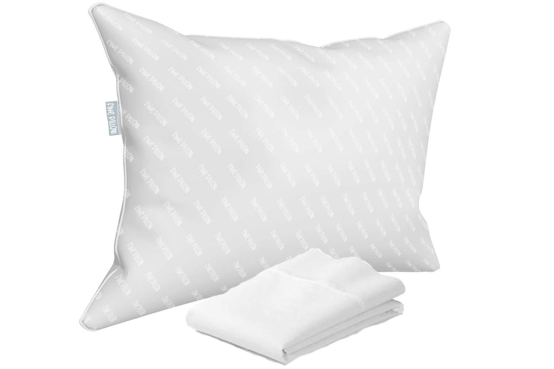 Fine Pillow Standard Pillows (1 Standard Firm + 1 Standard Pillowcase, White)