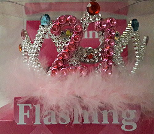 - Sunstar Industries LED Blinking Flashing Princess Dress-up Light up Tiara Crown for Birthday Party (21 Years)