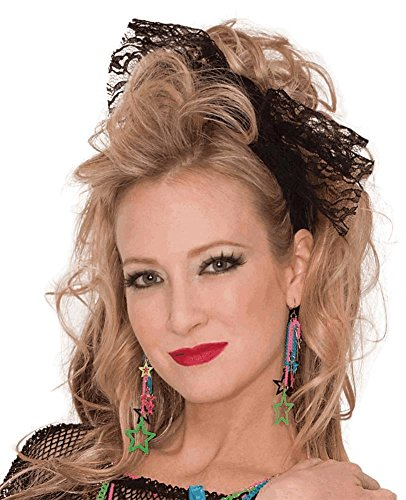 Lace Headscarf Costume Accessory (80's Theme)