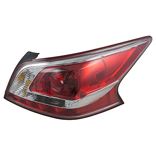 Passengers Taillight Tail Lamp Lens with Red Edge Trim Replacement for Nissan 26550-3TA0B AutoAndArt ()