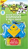 Bags on Board Bone Dispenser with 30 Refill Bags, Blue
