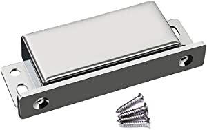 WOOCH Door Magnetic Catch - 90lb High Magnetic Stainless Steel Heavy Duty Catch for Kitchen Bathroom Cupboard Wardrobe Closet Closures Cabinet Door Drawer Latch (4.0 in Silver, 1-Pack)