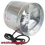 470CFM Booster Blower Grow Light 8'' Inline Cool Air Vent Duct Fan