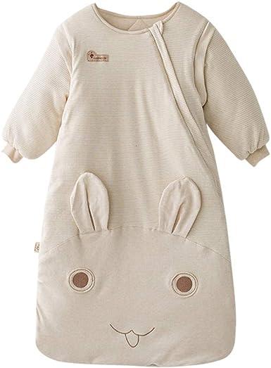 Zhhlinyuan Anti Patada Chicas Niños Sueño Bolso Lana Lana Dormir Bata Bebé Traje de Dormir Espesar Dormido Saco Grande Conejo Respirable: Amazon.es: Ropa y accesorios