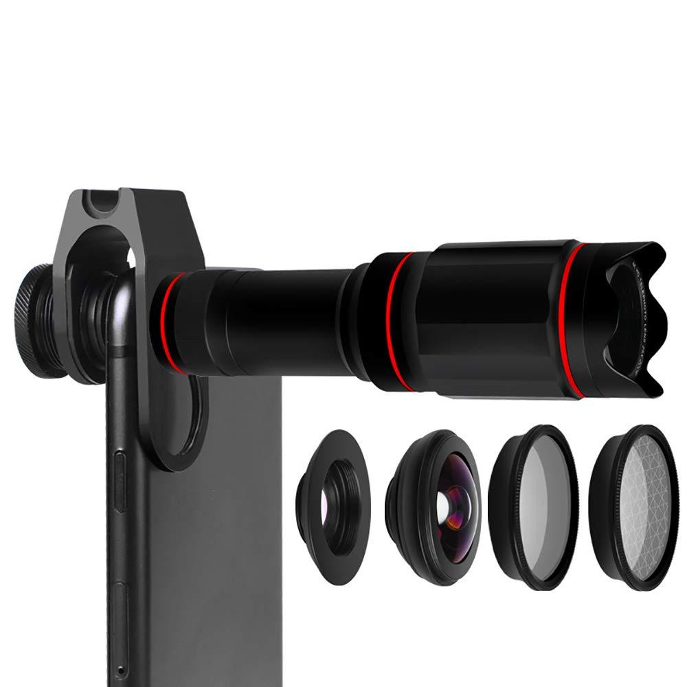 2PCS Mobile Phone Lens Macro Lens Wide-Angle Lens 25X Zoom HD Mobile Phone Universal Shooting Lens by ZUEN