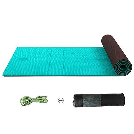 TPE Linea Corporal Esterilla Yoga Antideslizante Fitness Mat ...