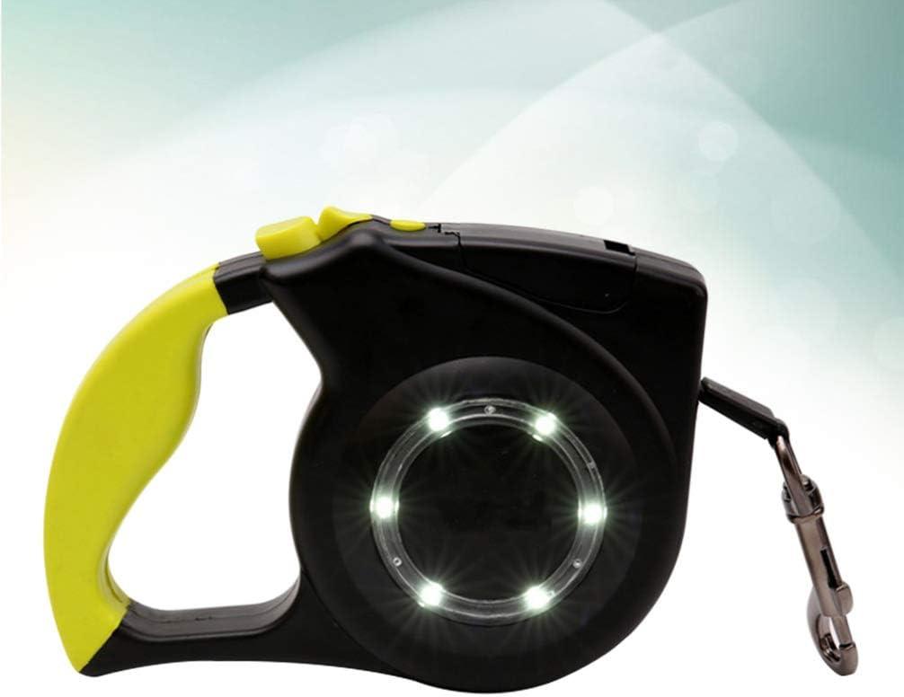 POPETPOP 1 Pieza de dise/ño ergon/ómico autom/ático Correa retr/áctil para Perros Creativa pr/áctica con luz LED para Mascotas de Cachorro de Perro