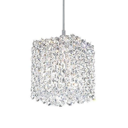 Schonbek RE0505JAG Swarovski Lighting Refrax Pendant Light, Stainless Steel