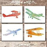 Nursery Airplanes Art Prints (Set of 4) - Unframed - 8x10s