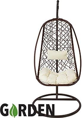 Al Fresco Antigua Hanging Chair And Cushion Amazon Co Uk Garden Outdoors