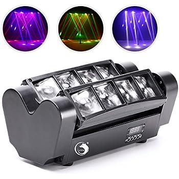 Amazon.com: Eyourlife 8 x 10 W 4 en 1 Par LED araña Moving ...