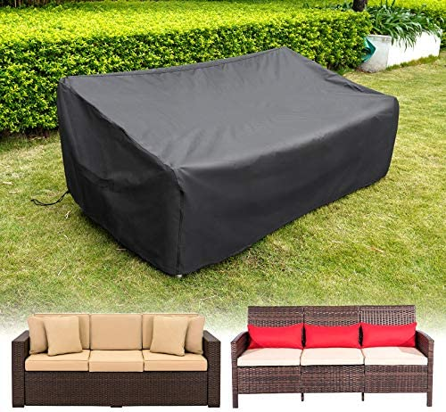 """HIRALIY Patio Loveseat Covers Waterproof Outdoor 3 Seaters Patio Sofa Cover Lounge Deep Seat Chairs Cover Heavy Duty Patio Furniture Covers for Bench (82.6"""" L x 39"""" W x 27.5"""" H)"""