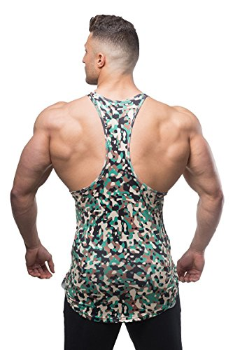 3184f90ac4dc8 Jed North Bodybuilding Tank Top Gym Stringer Y-Back Muscle Racerback