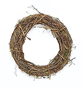 Pack of 5 Decorative Round Grapevine Artificial Twig Wreaths 18""
