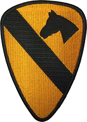 Papapatch 1st Cavalry Division Unit US Army Armed Forces Sewing Iron on Embroidered Patch (IRON-1ST-CAVA-YL)