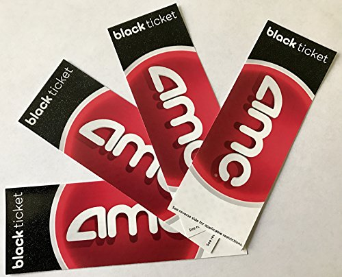 graphic regarding Amc Printable Tickets named 4 AMC Theatre Black Video clip Tickets (Help you save $10+)