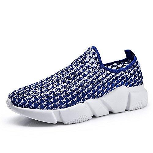 talón atléticos Malla Las del Mujeres de Zapatos Tela y Ocio Azul de la bone dog del Dig Plano de de Hombres la los qntwPOO