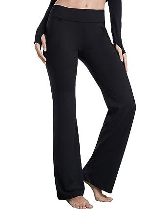 a4d33de6ba Bamans Dress Pant Yoga Pants Bootcut Slim Fit Stretch Flared Dressy Work  Slacks Bootleg Workout Leggings