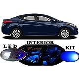 LED lights for Hyundai Elantra Blue Premium LED Interior Package Upgrade (6 pieces)