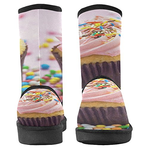 InterestPrint Womens Snow Boots Unique Designed Comfort Winter Boots Pink Cupcake Multi 1 m3GUrp0pA