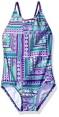 Kanu Surf Little Girls' Cindy 1-Pc Swimsuit, Purple, 5