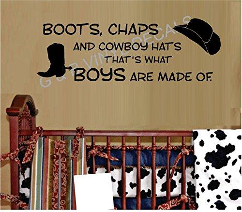 Boots Chaps Cowboy Vinyl Sticker product image
