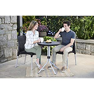 Keter-Chelsea-2-Seater-Rattan-Outdoor-Patio-Garden-Furniture-Dining-Set-Graphite