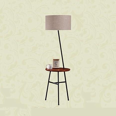 de pie Mesa de PISOMesa Lámpara LAMPARA de DE Lámpara Café 76ybfg