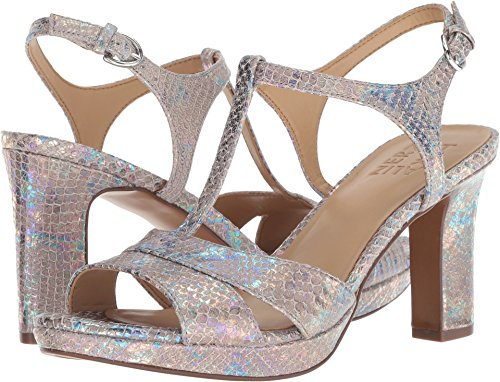 (Naturalizer Women's Finn Silver Irridescent Snake Leather 7 M US)
