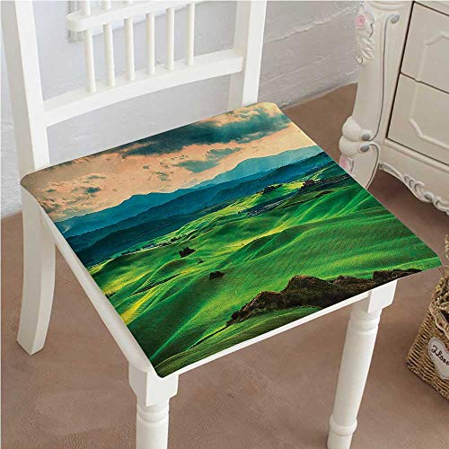 Mikihome Chair Pads Classic Design Tuscany Spring Rolling Hills On Sunset Agriculture Farmlands. Volterra Italy Europe Cotton Canvas Futon 32
