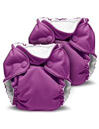 Lil Joey 2 Pack All in One Cloth Diaper, Orchid Diapering