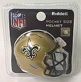 Saints Riddell Speed Pocket Pro Football Helmet