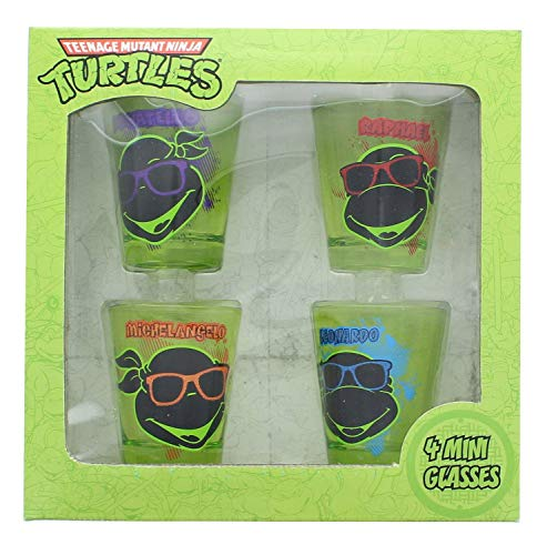 JUST FUNKY TMNT-SG4-4626-JFC-01 Teenage Mutant Ninja Turtles Face Shot Set -