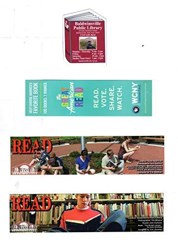 Bibliophile Ephemera: 3 Reading-Promotional Booksmarks, One Library Refrigerator Magnet