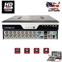 Evertech 16 Channel HD 1080N AHD Analog High Definition DVR HDMI Cloud NO Hard Drive Security Surveillance System