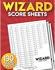 Wizard Score Sheets: 130 Large Wizard Score Pads.