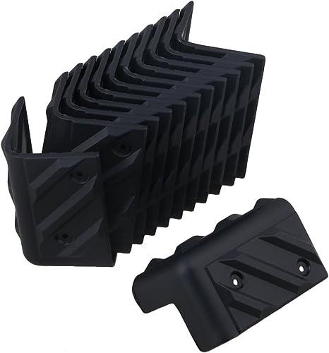 BQLZR 48 x 48 x 80 mm negro plástico gabinete amplificador de guitarra etapa altavoz esquina pantalla Pack de 12: Amazon.es: Instrumentos musicales