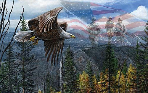 SunsOut May Freedom Fly Forever - USA Bald Eagle Puzzle - 550 pc Jigsaw Puzzle]()
