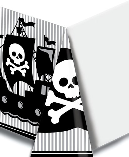 - Creative Converting Pirate Parrty Plastic Tablecover, Rectangle, 54