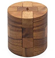 Powder Keg: Wooden Puzzles for Adults an Interlocking 3D Cylinder Brain Teasers from SiamMandalay with Free SM Gift Box (Pictured)