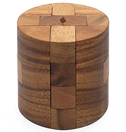 Powder Keg: Wooden Puzzles For Adults An Interlocking 3D Cylinder Brain  Teasers From SiamMandalay With