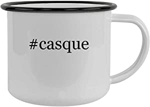 #casque - 12oz Hashtag Camping Mug Stainless Steel, Black
