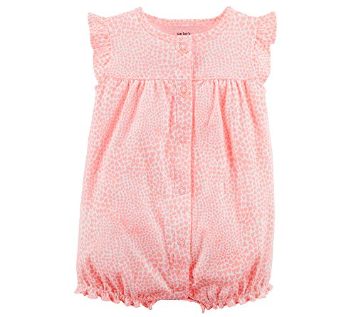 Carter's Baby Girls' Kitty Snap-up Cotton Romper 24