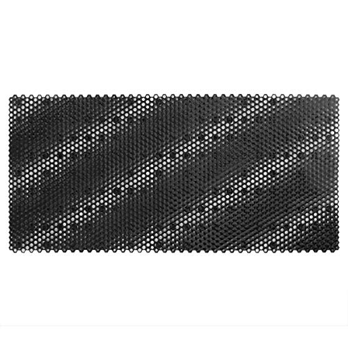 Yimobra Large Bathtub and Shower Mats with Drain Holes, Anti Slip Suction Cups, Extra Long 35 x 16 Inches, Phthalate Free, BPA Free, Latex Free, Machine Washable, Black