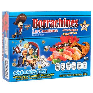 Authentic Sabores Imported Mexican Borrachines Almoaditas Deliciosas de Leche y Licor 30ct. With 1ct.