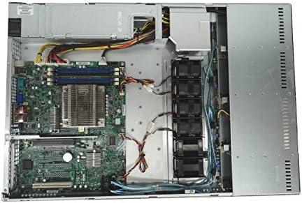 1x 600W PSU 2X Trays Included 1x E3-1220 3.1GHz 4C 16GB DDR3 Onboard RAID Rails Certified Refurbished Supermicro SuperChassis CSE-815 4-Bay LFF 1U Server with X9SCi-LN4F