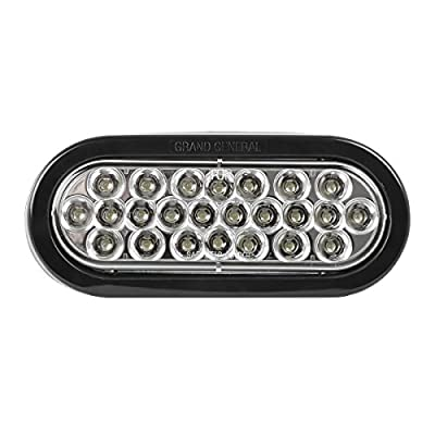 """GG Grand General 78224BP Pearl 6"""" Oval LED Stop/Turn/Tail Includes Light, Grommet and Pigtail for Trucks, Trailers, RV, Buses, Utility Vehicles: Automotive"""