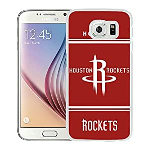New Custom Design Cover Case For Samsung Galaxy S6 Houston Rockets 10 White Phone Case