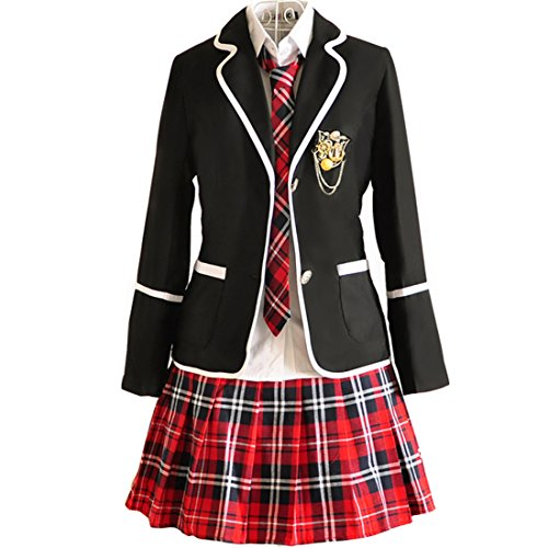 URSFUR Womens British Style Japan School Uniform Sets Cosplay Costume Anime Girl (XXL, Style 10)]()