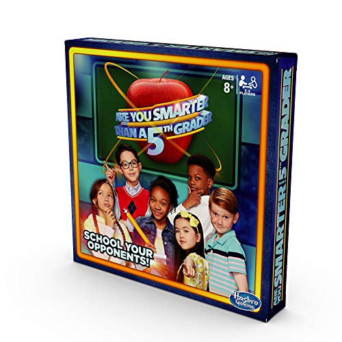 Hasbro Gaming are You Smarter Than a 5th Grader Board Game for Kids Ages 8 & Up